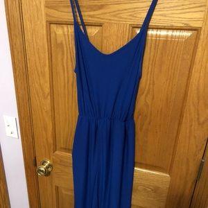 blue jump suit